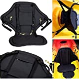 MonkeyJack Deluxe Padded Comfort Adjustable Kids Children Kayak Canoe Fishing Boat Rafting Back Seat Backrest Support Back Rest Cushion Pad Replacement & Snap Hooks