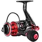 Sougayilang Spinning Reels Fishing Reel with 13 +1 Corrosion Resistant Ball Bearings, Light Weight and Ultra Smooth Powerful Spinning Fishing Reels(red ES5000)
