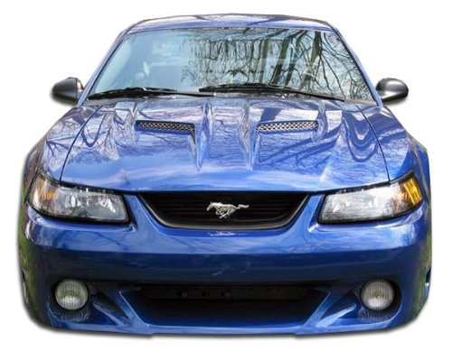 Brightt Duraflex ED-AHW-703 CVX Front Bumper Cover - 1 Piece Body Kit - Compatible With Mustang 1999-2004