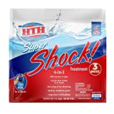 HTH 52023 Super Shock Treatment Swimming Pool Chlorine Cleaner, 1 lb (Pack of 6)