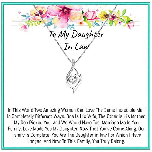 Onepurposegifts To My daughter in law Gifts necklace for...