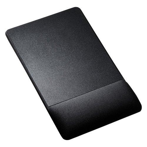 サンワサプライ リストレスト付マウスパッド(布素材、高さ高め、ブラック)