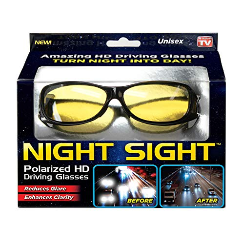 Ontel Night Sight | HD Polarized Night Vision Driving Sunglasses | Men and Women, Anti Glare, Scratch Resistant, Stylish
