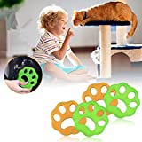 CAMTOA Pet Hair Remover for Laundry,Laundry Lint and Fur Remover Non-Toxic Reusable Floating Lint Catcher Dogs and Cats Hair Catcher for Washing Machine,Clothes,Bedding(4 Pcs)