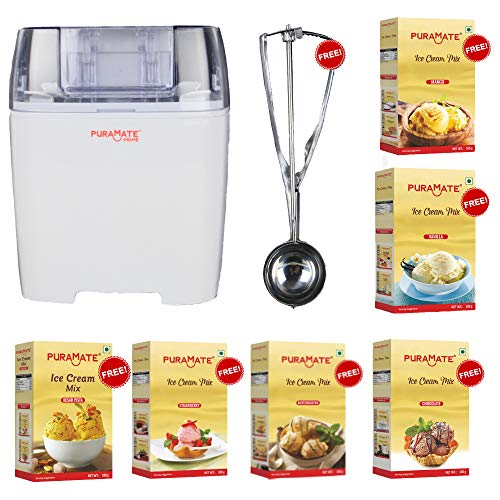 Puramate Prime Automatic Ice Cream Maker/Frozen Yoghurt Maker/Sherbet Slush Maker/Ice Cream Machine...