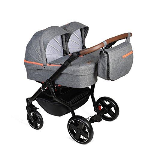 dorjan Quick Twin moderno Passeggino Gemellare (lato laterale AN) Combinato Passeggino Duo Baby Fasciatoio SISTEMA Passeggino Passeggino + + pioggia + Zanzariera