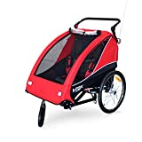 Papilioshop B-Fox Remorque vélo ou poussette pour transport de 1 à 2 enfants...