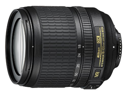 Nikon AF-S DX NIKKOR 18-105mm f/3.5-5.6G ED VR - Objetivo para cámara réflex, Negro
