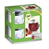 Ball Mason 4oz Quilted Jelly Jars with Lids and Baands, Set of 12