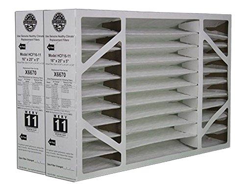 "2 Pack of X6670 Lennox OEM Merv 11 Filter Media 16""X25""X5"" Fits X6660 HCC16-28 Genuine Lennox X6670"