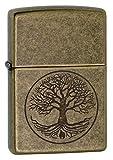 Zippo Feuerzeug Motiv: Baum des Lebens – antikesMessing
