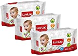 LuvLap Baby wipes 72+8 pack of 3