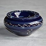 Yodeco - Cendrier marocain Tatoué bleu nuit - Grand modèle