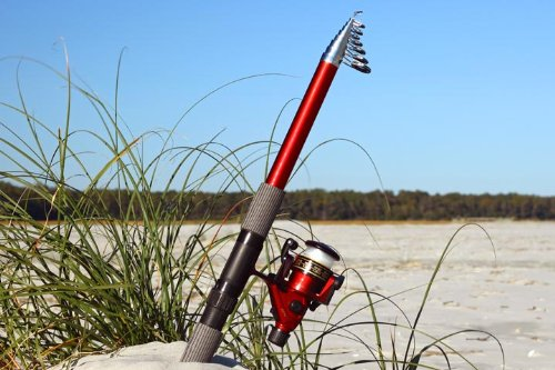 14ft 7 in 4.5M Telescoping Fiberglass Fishing Rod & Reel Combo by FTUSA