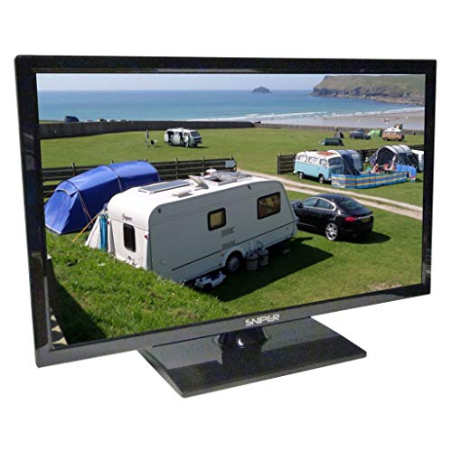 Sniper 22″ HD LED Travel TV with built in DVD, Satellite and Freeview, 12V, 24V & Mains. DVB-T2 & DVB-S2
