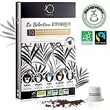 Coffret Capsules Nespresso Compatible | 5 Cafés BIO Fairtrade...
