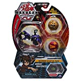 Bakugan Starter Pack 3-Pack, Darkus Mantonoid, Collectible Transforming Creatures, for Ages 6 and Up
