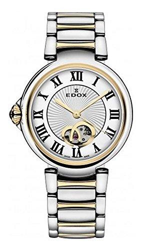 Edox Damen-Armbanduhr 85025 357RM ARR LaPassion Analog Display Swiss Automatic Two Tone