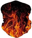 Loveternal Flamme Multifunktionstuch Flame Kopftuch Nahtloses Halstuch Sport-Halstuch,Schal,Stirnband, Bikertuch,Unisex,Schnelltrocknend - Winddicht Face Scarf für Staub, im Freien, Sport,Festivals