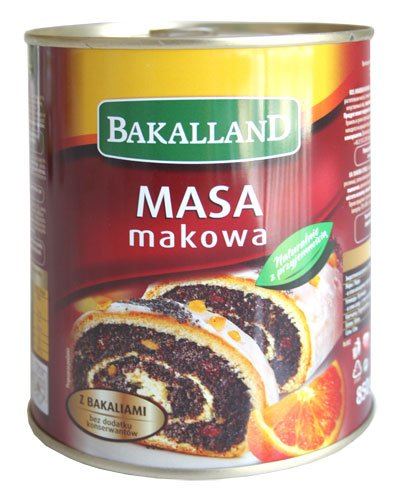 Bakalland Poppy Seed Filling (850g/ 1.9lbs)