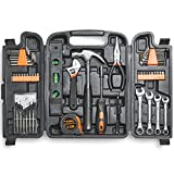 VonHaus 53pc Household Tool Set/Box/Kit for DIY - Includes Precision Screwdrivers, Claw Hammer, Pliers, Hex Keys, 20 Bits & More
