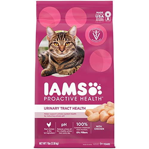 Product Image 1: IAMS PROACTIVE HEALTH Adult Urinary Tract Health Dry Cat Food with Chicken Cat Kibble, 7 lb. Bag