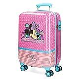 Disney Minnie Pink Vibes Maleta de cabina Rosa 37x55x20 cms Rígida ABS Cierre combinación 32L 2,5Kgs 4 ruedas dobles Equipaje de Mano