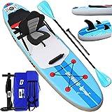 DURAERO Stand up Paddle Gonflable Sup Board Stand Up Paddle Board, siège Kayak Sport Nautique, Accessoire Complet 2020, 305 x 76 x 15 cm, jusqu'à 110 kg