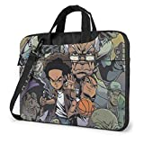 XCNGG The Boondocks Anime Laptop Hombro Messenger Bag Tablet Computadora Almacenamiento Mochila Bolso 14 Pulgadas