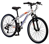 Schwinn High Timber Mountain Bike, Steel Frame, 24-Inch Wheels, Silver
