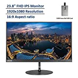 2020 Lenovo 23.8' FHD IPS White LED Monitor, 1920x1080 Resolution, 16:9 Aspect Ratio, 4ms Response Time, 178 Degrees Viewing Angles, 3,000:1 Static Contrast Ratio, HDMI, Black