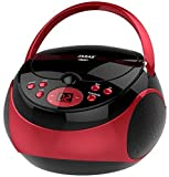 Jaras JJ-Box89 Red/Black Sport Portable Stereo CD Player with AM/FM Stereo Radio and Headphone Jack Plug