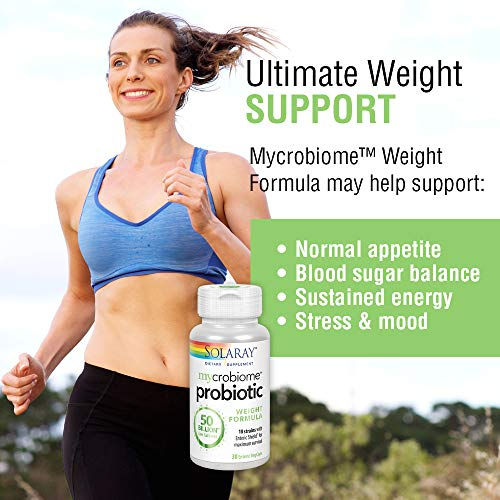 Solaray Mycrobiome Weight Formula   Specially Formulated for Weight Health   Supports Normal Appetite, Energy Levels & More   50 Billion CFU   30 ct 4