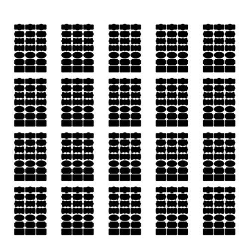 SUPVOX 20 Pz Etichette di Lavagna Adesivo Lavagna Impermeabili Marcatore di Gesso per Barattoli Vino...