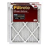 Filtrete MPR 1000 24x24x1 AC Furnace Air Filter, Micro Allergen Defense, 2-Pack