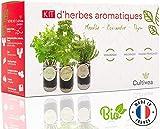 Cultivea – Kit Prêt à Pousser d'Herbes Aromatiques – Graines Françaises 100%...