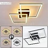 Plafonnier LED Lithgow en métal noir, luminaire géométrique au design...