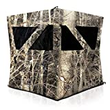 SereneLife Two Person Hunting Blind - Water Resistant Durashell Plus Hunting Ground Blind Tent Pop Up Blinds for Hunting w/Shadow Guard, Polyester Fabric, Includes Carry Bag/Tie-Down Cords - SLHT49