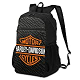 Outdoor Travel Backpack for Men and Women,Harley David-Son Logo,Foldable/Lightweight/Waterproof/Large-Capacity