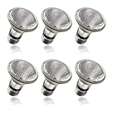 Par20 Bulbs, 6 Pack Halogen Bulbs, Jaenmsa Par20 Flood Light Bulb 120V 39W (50W Equivalent), Dimmable Reflector Lamp Bulb with E26 Base, High Output 2700K Warm White for Track Lighting, Recessed Can