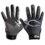 Cutters Game Day Receiver Glvs Youth S/M, Black Fade