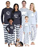Sleepyheads Matching Family Christmas Pajama Sets, Polar Bear - Mens (SHM-4038-M-XL) Grey