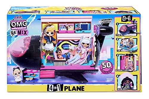 Image 13 - LOL Surprise OMG Avion Remix 4-en-1 - Avec 50 surprises - Se transforme en Avion, Voiture, Studio d'enregistrement et Salle de mixage