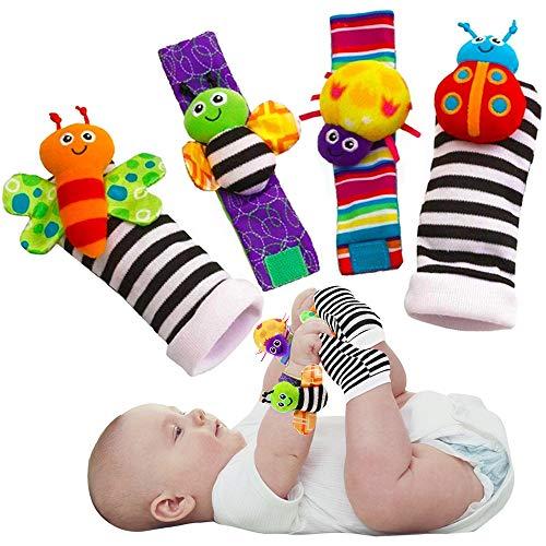 Blige SMTF Cute Animal Soft Baby Socks Toys Wrist Rattles...
