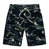 LOOEST M-6XL Hommes Natation Shorts Maillots de Bain Homme Maillot de Bain Grande Taille Maillot Homme Beach Wear Pantalon Court Shorts (Color : 1526 Green, Size : 6XL)