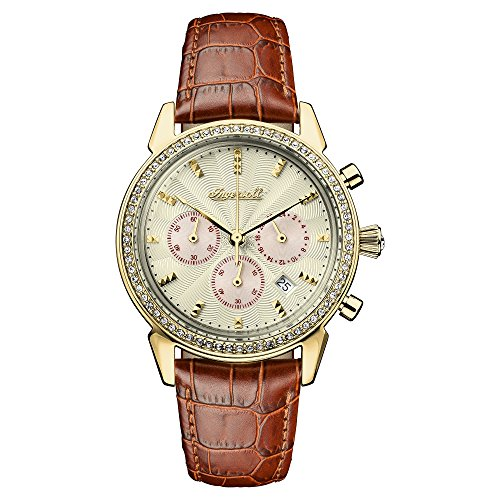 Ingersoll Damen Chronograph Quarz Uhr mit Leder Armband I03902
