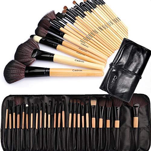 Brochas de Maquillaje,Cadrim 24pcs Maquillaje Profesional Pinceles Maquillaje de Ojos...
