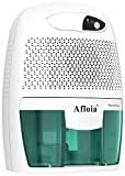 Afloia Portable Dehumidifier for Bathroom,1500 Cubic Feet Electic Mini Home dehumidifier for Home Deshumidificador Dehumidifier for Bathroom Baby Room Space Bedroom RV Basement Caravan Office Garage