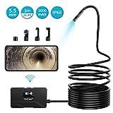 KinCam WiFi Endoscopio Wireless Telecamera 2600mAh 1080P Full HD Obiettivo da 5,5 mm