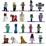 Jada Toys Minecraft 1.65' Die-cast Metal Collectible Figurine 20-Pack Wave 2, Toys for Kids and Adults, Multi (30770)
